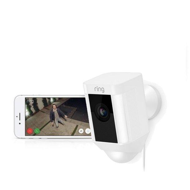 Udendørs trådløst 230v Full-HD overvågningskamera med LED lys og sirene