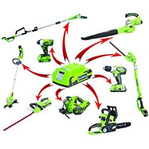 Greenworks batteridrevne havemaskiner og værktøj