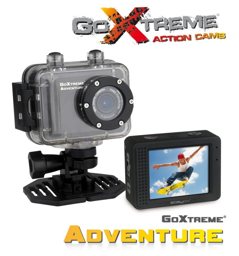 goxtreme adventure hd action camera sort action kamera. Black Bedroom Furniture Sets. Home Design Ideas