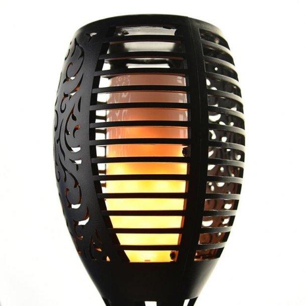 Topnotch Udendørs solcelle fakkel med flammende LED pærer - Lamper- lys UJ94