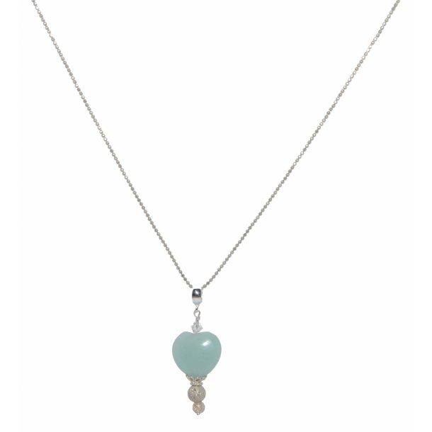 lang sølv halskæde med vedhæng